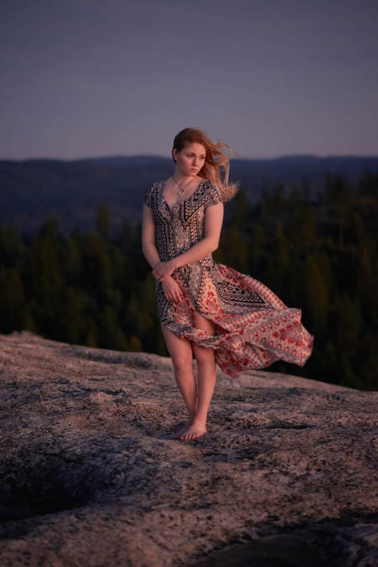 outdoor fashion photo shoot in the mountains