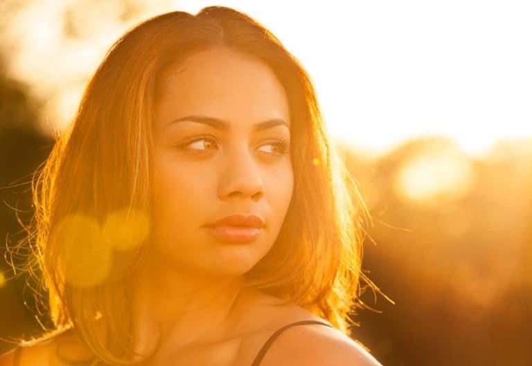 back-lit beauty portrait